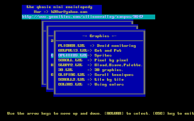 Qbasic Download - Tutorials: Advanced